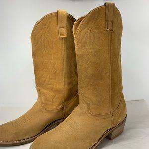Laredo Mens Drew Western Suede Cowboy Boots 9.5D